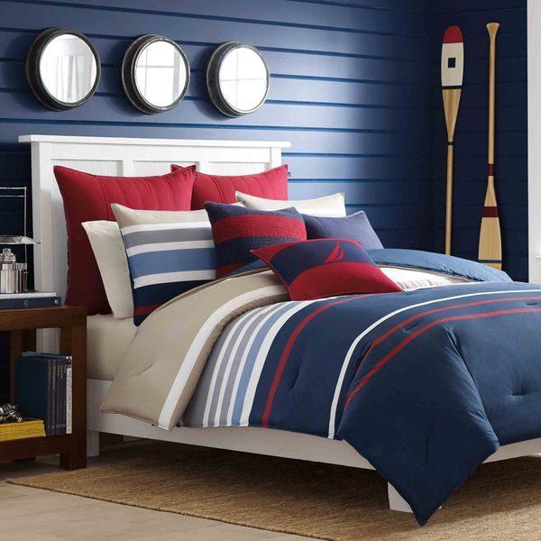 Nautica 3 Piece King Size Cotton Comforter Set